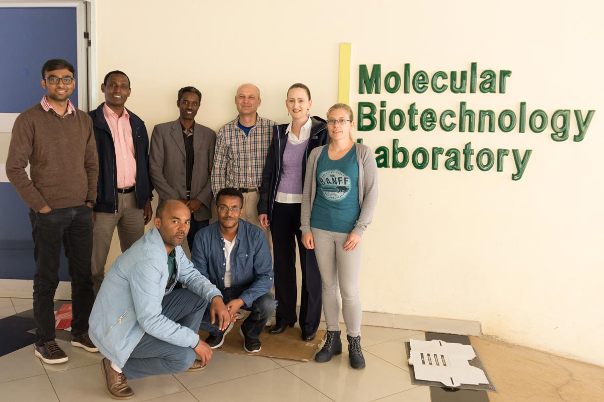 The John Innes Centre team with hosts from the Ethiopian Institute of Agricultural Research